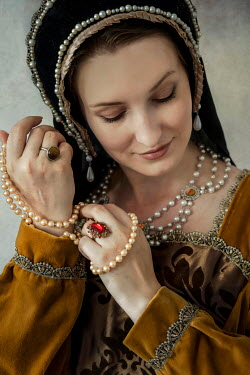 Jaroslaw Blaminsky TUDOR WOMAN WITH JEWELLERY AND HEADDRESS Women