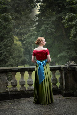 Magdalena Russocka historical woman standing on terrace