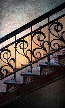 Jaroslaw Blaminsky CLOSE UP OF ORNATE STAIRCASE Stairs/Steps