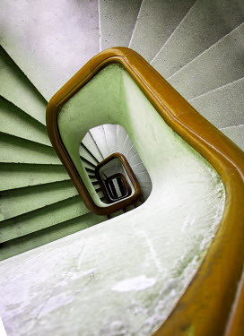 Jaroslaw Blaminsky WHITE STAIRCASE FROM ABOVE Stairs/Steps