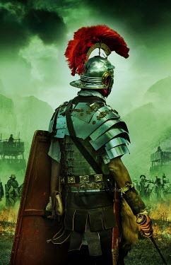 Stephen Mulcahey roman centurion preparing to go into battle