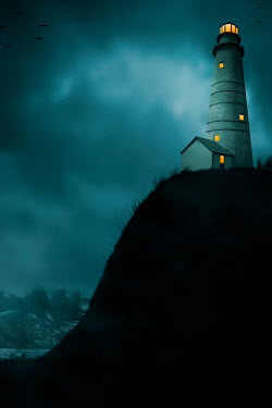 Ildiko Neer Lighthouse with shining light