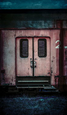 Jaroslaw Blaminsky CARRIAGE DOORS OF OLD TRAIN Railways/Trains