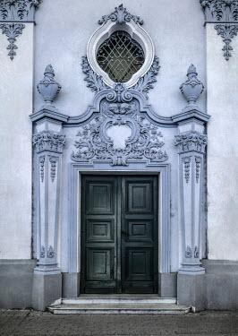 Jaroslaw Blaminsky GRAND BUILDING WITH ORNATE DOORWAY Building Detail
