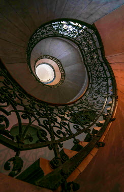 Jaroslaw Blaminsky DECORATIVE SPIRAL STAIRCASE FROM BELOW Stairs/Steps
