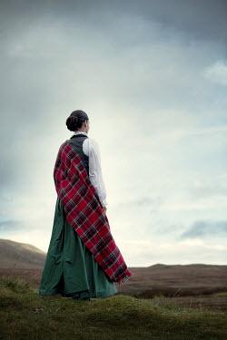 Magdalena Russocka historical scottish woman standing on moors