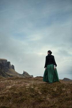 Magdalena Russocka historical woman standing on moors