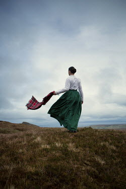 Magdalena Russocka historical scottish woman standing on moors