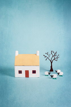 Peter Chadwick Wooden house and paper craft sheep