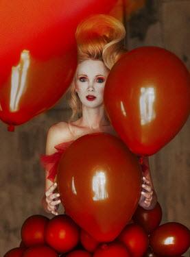 Kirill Sakryukin Woman with red balloons