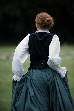 Magdalena Russocka historical woman running outside