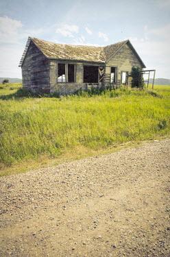 Jill Battaglia Abandoned shack by rural road