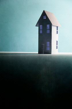 Catherine Macbride Paper craft house in shadow