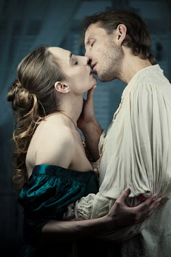 Magdalena Russocka historical couple kissing inside