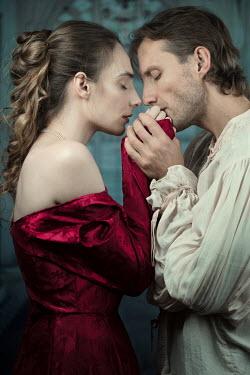 Magdalena Russocka intimacy historical couple cuddling inside