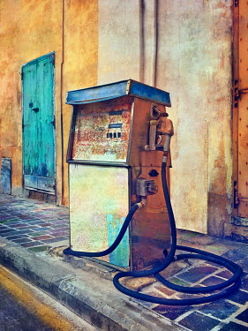 Paul Knight Rusty and abandoned petrol pump