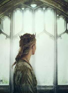 Mark Owen Young woman in crown by window