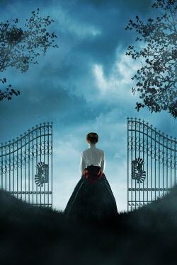Ildiko Neer Historical woman standing by gate