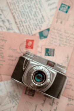 Ebru Sidar Camera on handwritten postcards