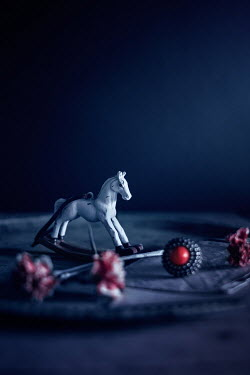 Magdalena Wasiczek miniature rocking horse and  miscellaneous objects