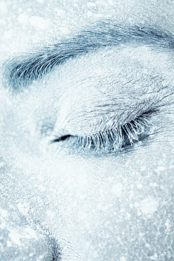 Magdalena Russocka close up of frozen female face