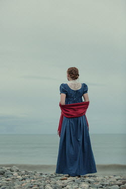 Magdalena Russocka historical woman standing on beach