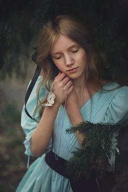 Magdalena Kolakowska DREAMY GIRL WITH FOB WATCH BY TREE Children