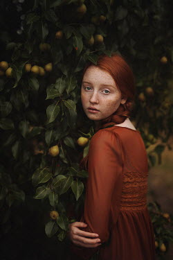 Magdalena Kolakowska Teenage girl by pear tree