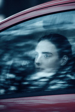 Magdalena Russocka woman behind car window