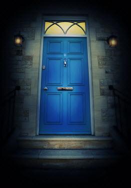 Lyn Randle Blue door to house