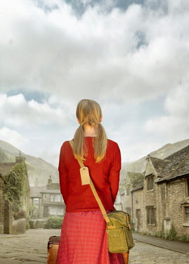 Stephen Mulcahey Rear view of a forties teenage girl