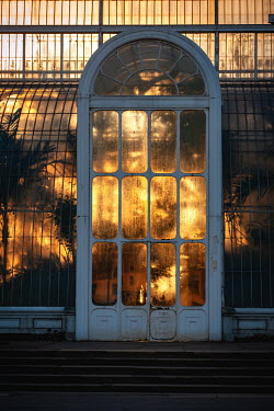 Magdalena Wasiczek SUNSET REFLECTED IN GLASS BUILDING Miscellaneous Buildings