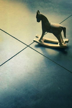 Maria Petkova miniature rocking horse on floor Miscellaneous Objects
