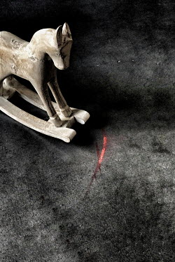 Maria Petkova white rocking horse on floor Miscellaneous Objects
