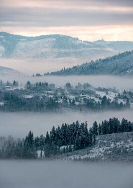 Jaroslaw Blaminsky FOGGY LANDSCAPE AT DAWN Rocks/Mountains
