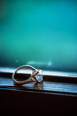 Magdalena Russocka engagement ring on windowsill