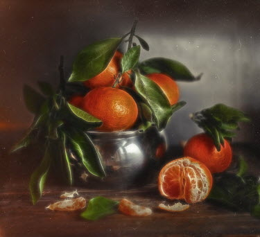 Andreeva Svoboda METAL BOWL WITH ORANGE FRUIT Miscellaneous Objects