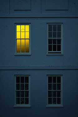 Magdalena Russocka old townhouse with light in window