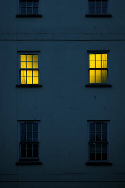Magdalena Russocka old townhouse with light in windows