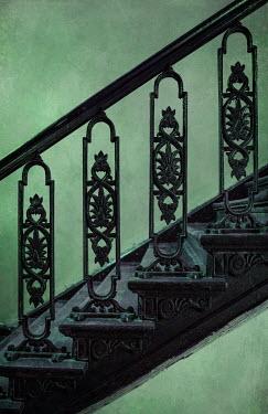 Jaroslaw Blaminsky CLOSE UP OF OLD METAL STAIRCASE Stairs/Steps