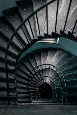 Jaroslaw Blaminsky STONE SPIRAL STAIRCASE FROM ABOVE Stairs/Steps