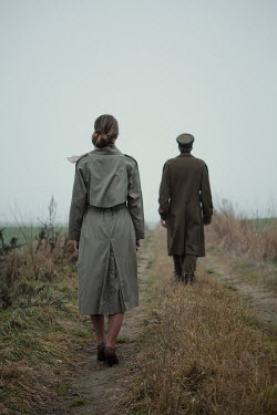 Magdalena Russocka wartime couple in misty field