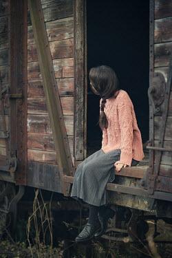 Svetlana Bekyarova GIRL SITTING IN OLD TRAIN WAGON Women