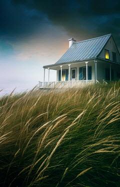 Sandra Cunningham BEDROOM LIGHT IN BEACH HOUSE AT DUSK Houses