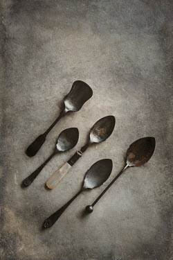 Magdalena Wasiczek collection of six small silver spoons Miscellaneous Objects