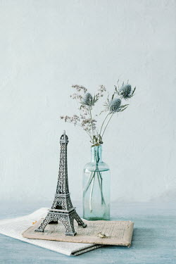Magdalena Wasiczek MODEL OF EIFFEL TOWER WITH THISTLES Flowers