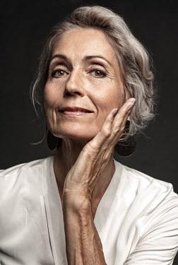 Nina Masic CLOSE UP OF HAPPY MATURE WOMAN Old People