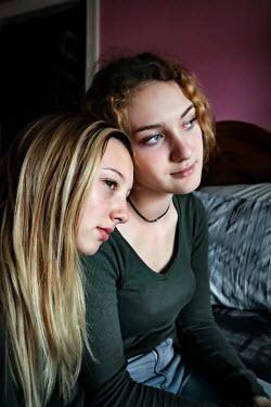 Stephen Carroll TWO TEENAGE GIRLS SITTING IN BEDROOM Women
