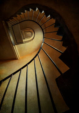 Jaroslaw Blaminsky TALL METAL STAIRCASE FROM BELOW Stairs/Steps