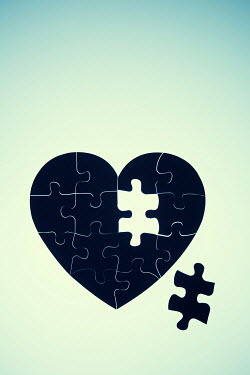 Magdalena Russocka Heart shaped jigsaw with one piece missing